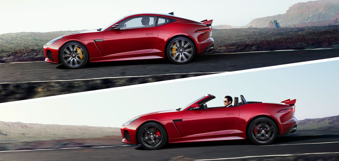 Jaguar F-TYPE as Coupé, or Convertible