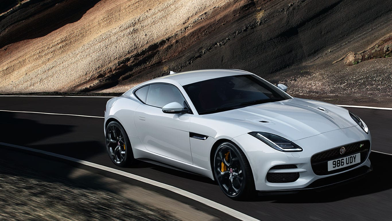 F-TYPE R IN YULONG WHITE WITH OPTIONAL FEATURES FITTED