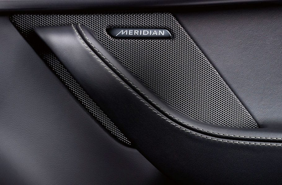 jaguar f type luxury meridian sound system speaker