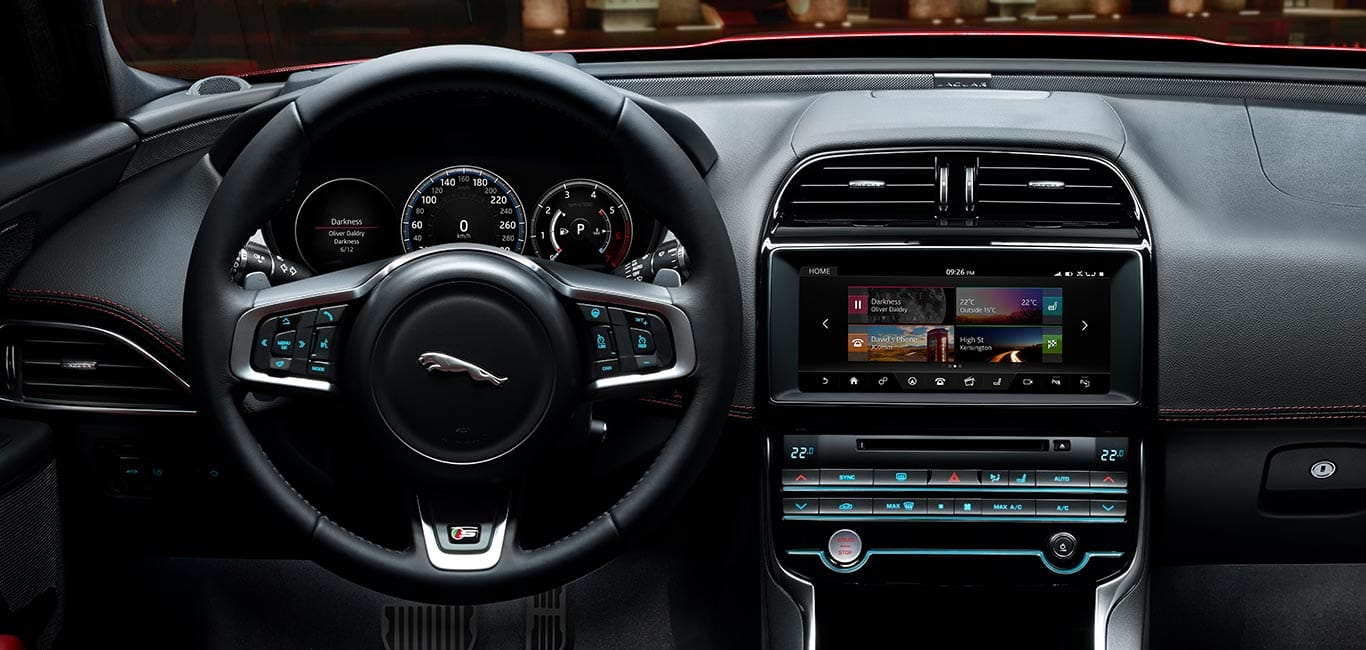 In Car Technology Jaguar Xe Safe Entertained Connected