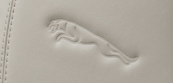 Jaguar Leaper Embossed Headrest