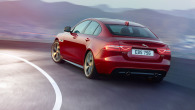 Red Jaguar XE On The Road