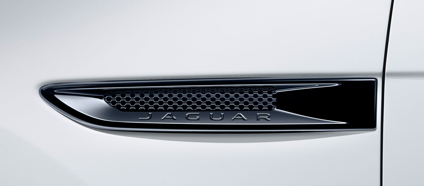 Jaguar FPACE Gloss Black Side Vents