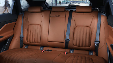 Jaguar F-PACE Brown Leather Rear Interior