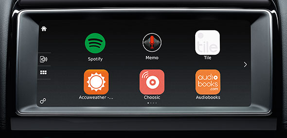 Jaguar InControl Apps on 10 inch screen compatible to connect to your smartphone