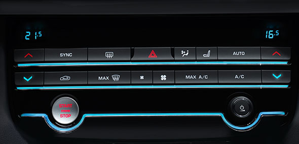 Jaguar Two-Zone Climate Control