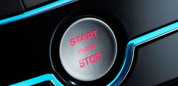 Jaguar Keyless Start Button