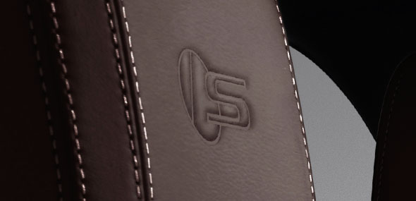 Jaguar F-PACE S logo on Headrest
