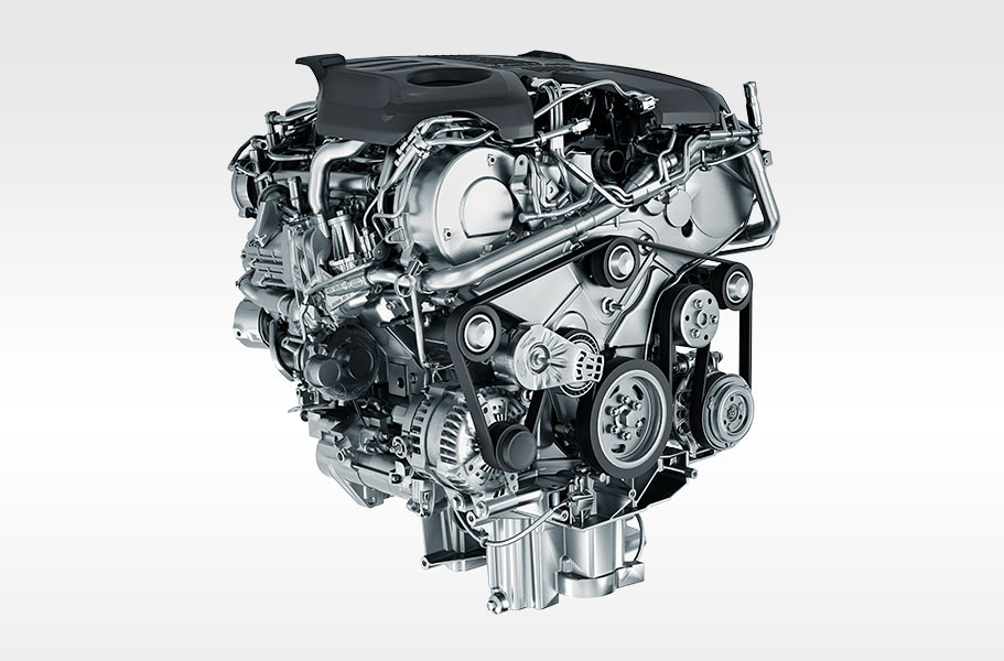 Jaguar powerful supercharged performance engines