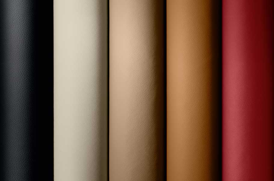 XJ personalised leather swatches