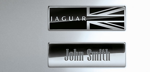 Jaguar Intaglio Text