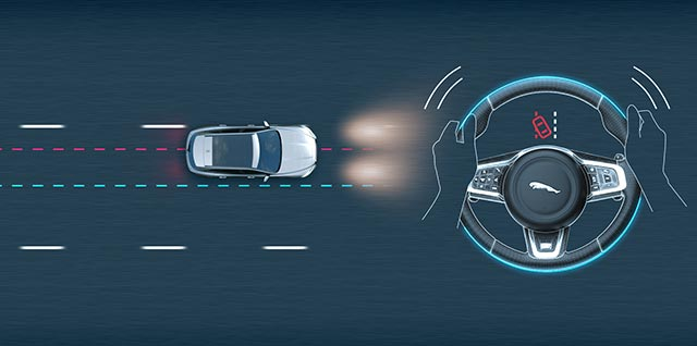 Jaguar Lane Departure Warning Demo