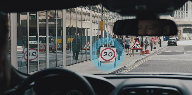 Jaguar Traffic Sign Recognition and Adaptive Speed Limiter