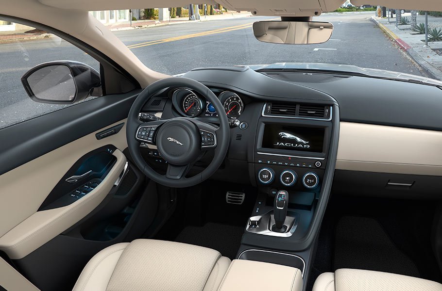 Jaguar E PACE Luxury Interior Design Steering Wheel