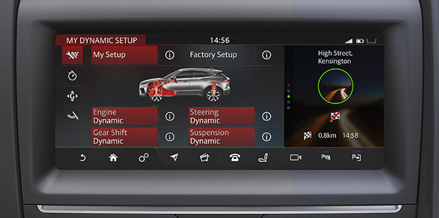 E PACE Configurable Dynamics setting for enhanced driving control