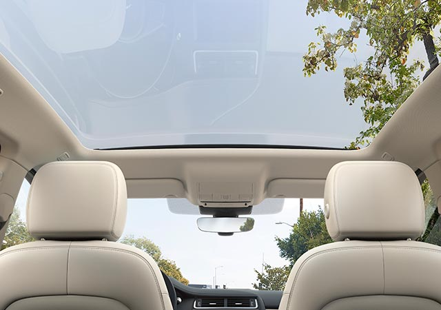 Jaguar E PACE optional fixed panoramic glass roof