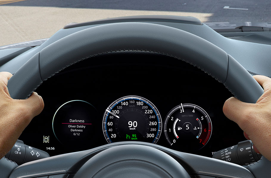 Optional 12.3 high-definition Interactive Driver Display to project driving information