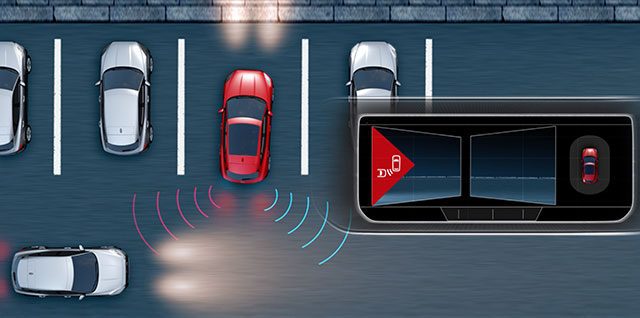 Jaguar Rear Traffic Monitor warns you of hazards approaching from either side of your vehicle