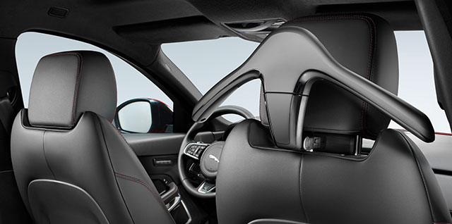 Jaguar removable coat hanger inside the E PACE