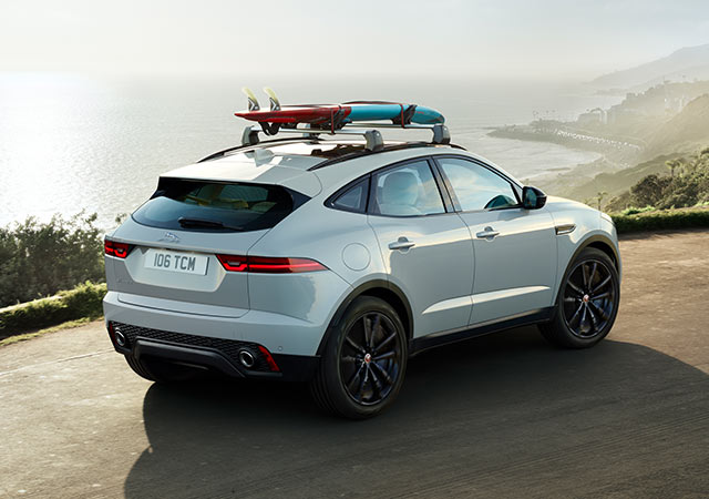 E PACE exceptional collection of options and Jaguar Gear