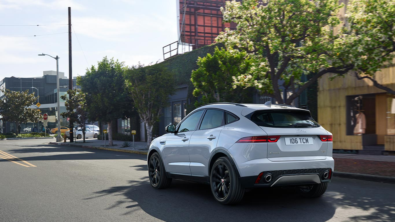 E-PACE S IN BORASCO GREY WITH OPTIONAL FEATURES FITTED (MARKET DEPENDENT)