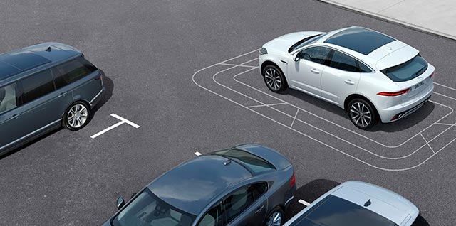 E PACE Jaguar Park Pack includes 360 Parking Aid Rear Traffic Monitor and Park Assist