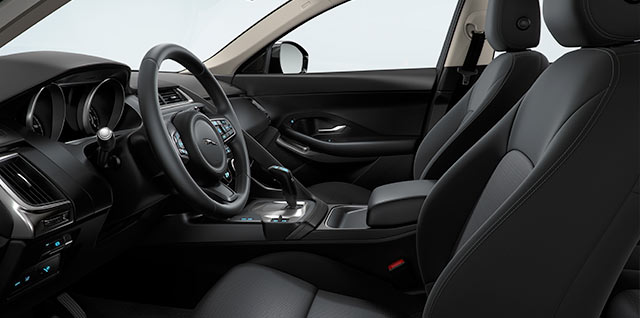 E PACE Fabric 8 way front seats jet black interior
