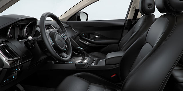 E PACE Grained leather 14 way memory front seats