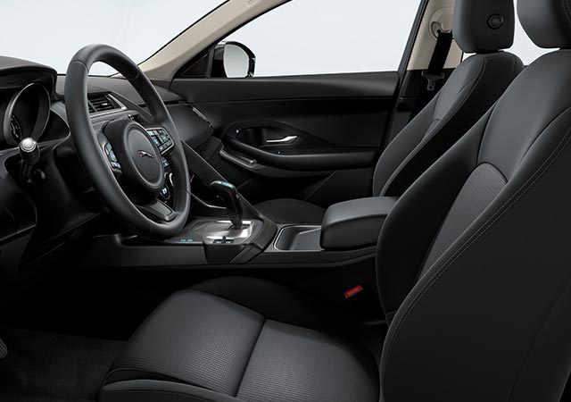 Jaguar E PACE Black Jet Interior