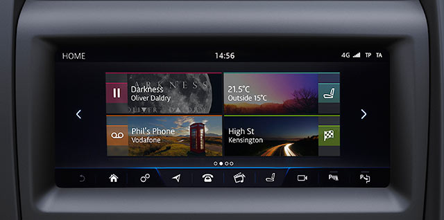 Jaguar InControl Touch Pro 10 inch screen with Connect pro Navigation Pro és Okostelefon csomag