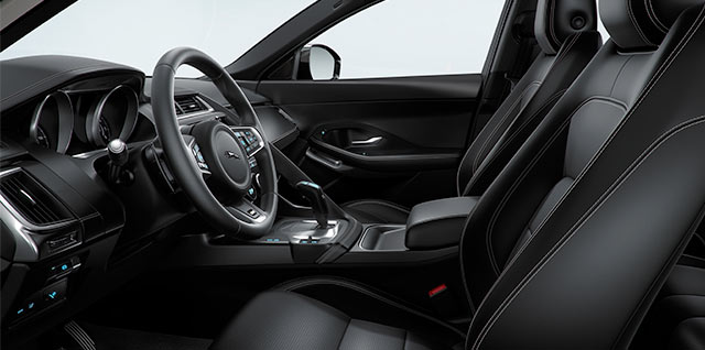 E PACE Dynamic Grained leather 10 way front seats with contrast stitching