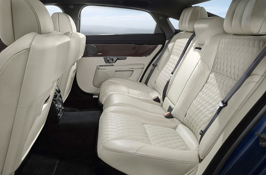 Ivory XJ Interior Design panoramic roof and hand crafted veneers