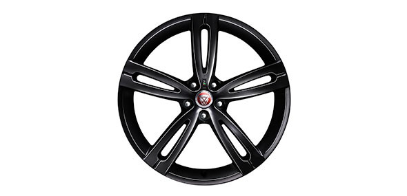 Jaguar XJR 575 20 inch split-spoke alloy wheels with Gloss Black finish