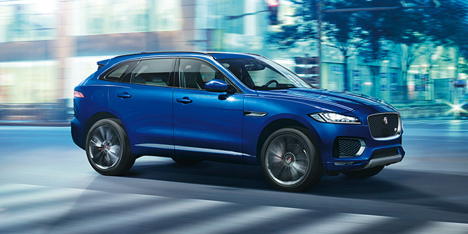 Jaguar F-Pace Luxury SUV in Blue