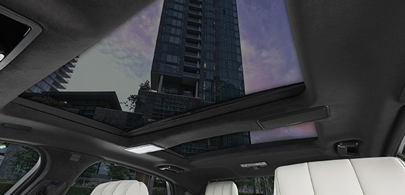 XJ panoramic heat-reflective glass roof