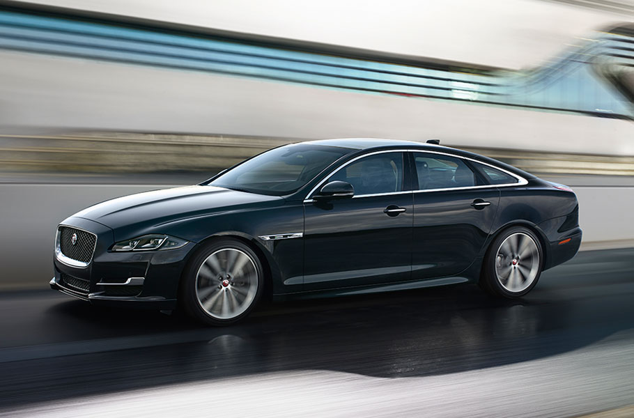 XJ RSport driving on road