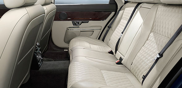 Jaguar XJ Autobiography interior design with multi-functional seating gives you complete control of your personal comfort