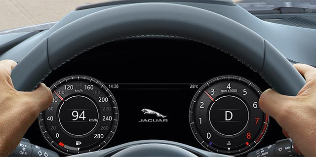 E PACE Interactive Driver Display Steering Wheel