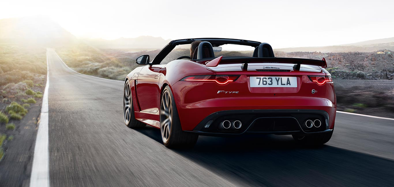 Jaguar FTYPE Sports Car Agile Distinctive Powerful - Red sports car