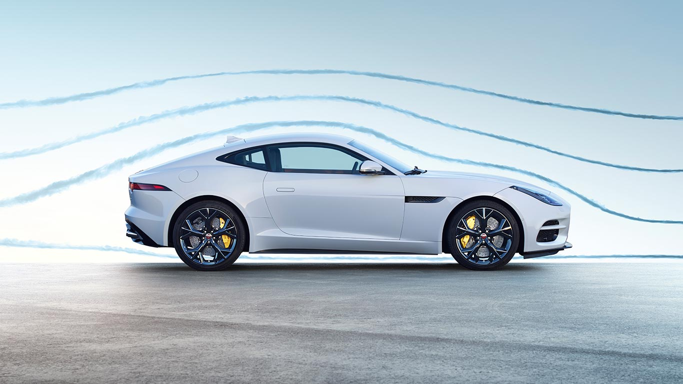 F-TYPE R IN YULONG WHITE WITH OPTIONAL FEATURES FITTED (MARKET DEPENDENT)
