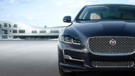 The XJL with chrome mesh grille and new LED headlights.