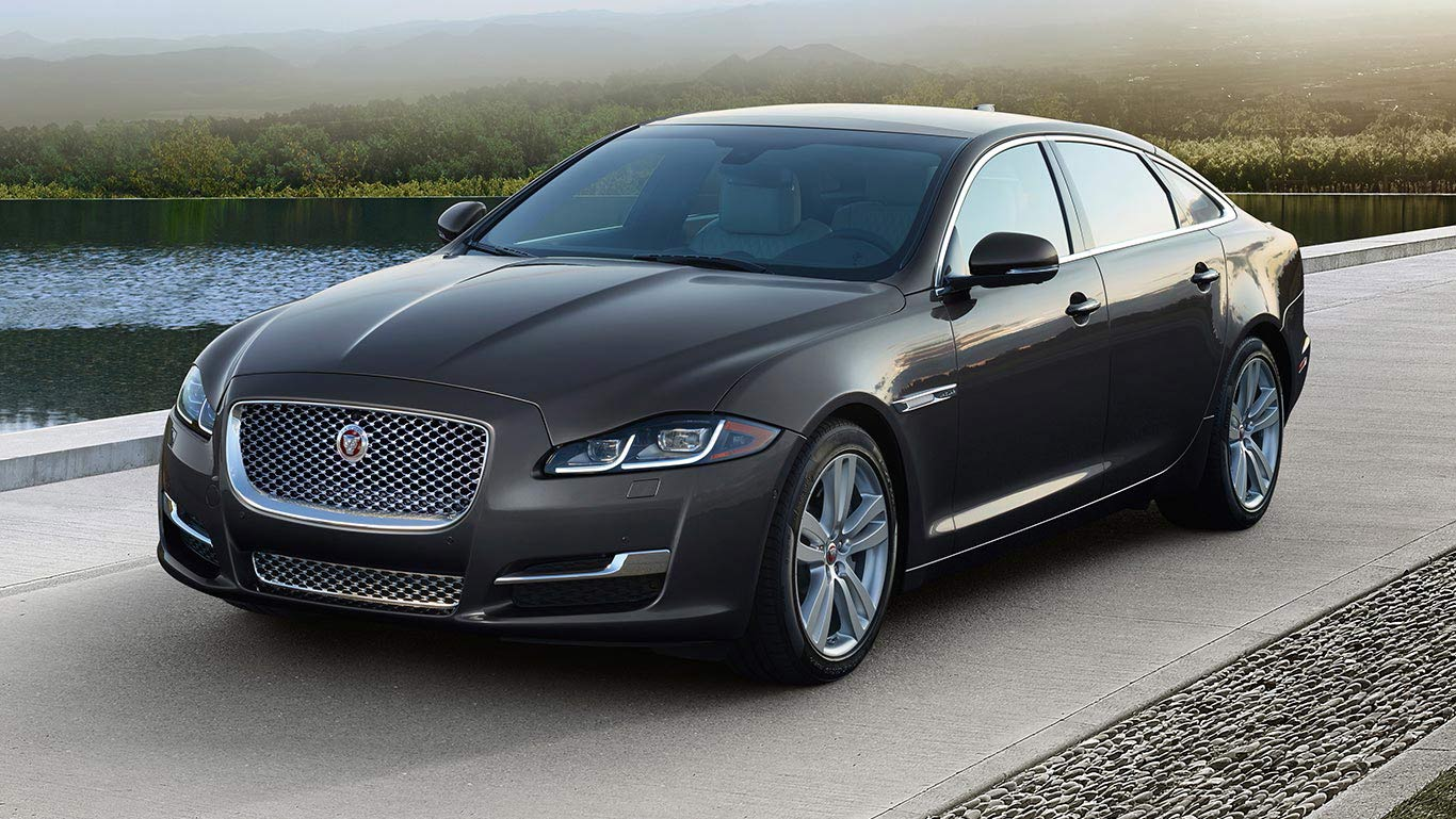 The XJL in Storm Grey Premium.