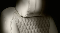 Quilted soft grain perforated leather seats with contrast stitch in the XJL (Seat shown with option Premium Rear Seat Package).