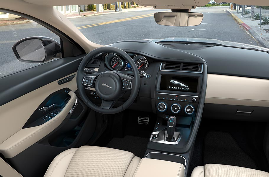 E PACE All New Interior seats controls view inside
