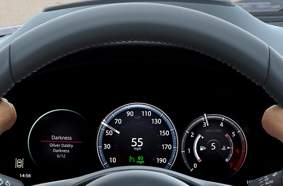 Jaguar Interactive Driver Display Screen Steering Wheel E PACE Technology