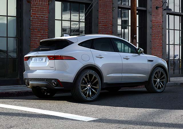 White All New Jaguar E PACE parked on street