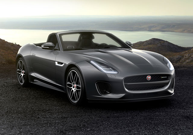 Jaguar F-TYPE R-DYNAMIC Coupé Sports Car parked on a gravelly surface