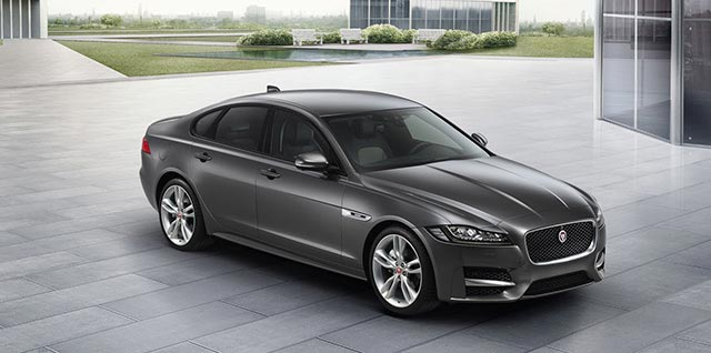 Black Jaguar XF R Sport Car Model