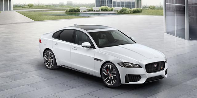 Jaguar XF S Model in Glacier White