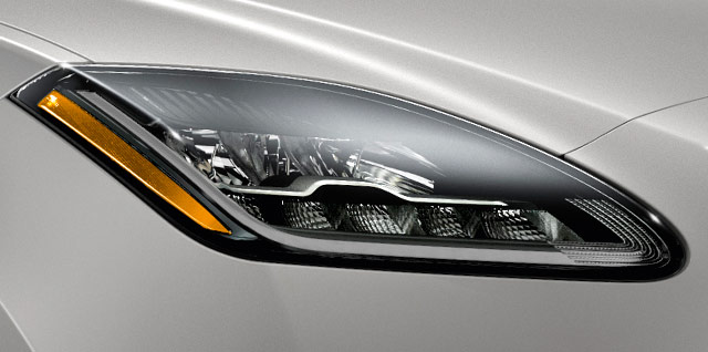 Jaguar E PACE LED headlights Auto high beam assist